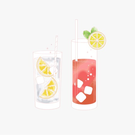 Set of a beverage Ilustracja