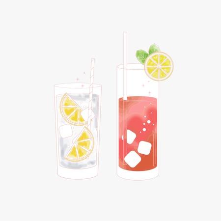 Set of a beverage Illustration