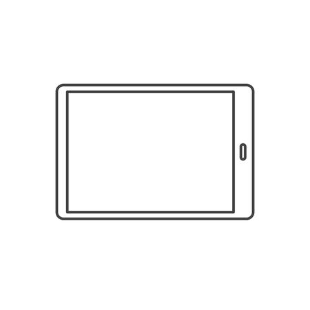 Vector of digital tablet icon