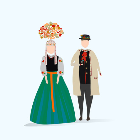 Set of illustrated people Ilustração