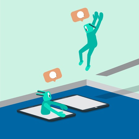 Illustration of social media 向量圖像