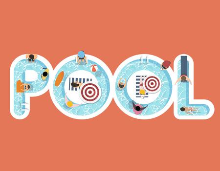 夏のベクトルは、単語プールとデザインを感じます