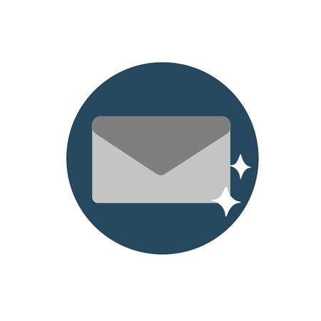 Illustration of mail icon symbol Çizim