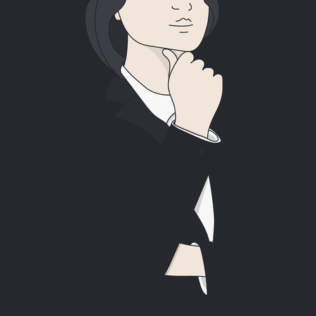 Vector of businesswoman