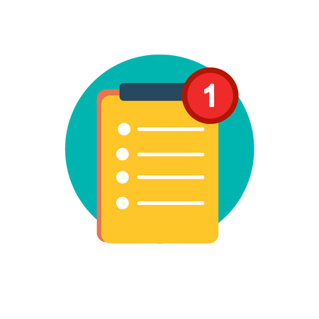 Illustration of to-do list vector