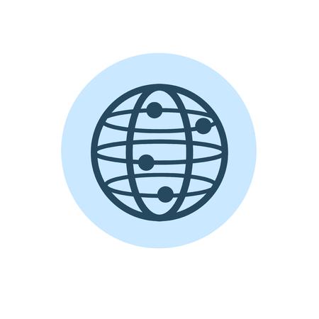 Illustratie van het vectorpictogram van de globaliseringsverbinding