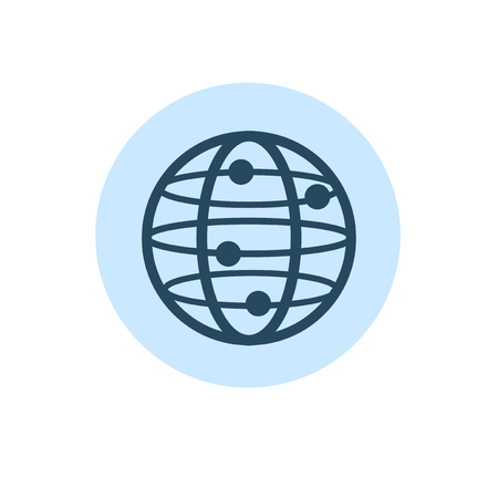 Illustration of globalization connection vector icon