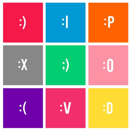 顔の表情の絵文字のベクトル
