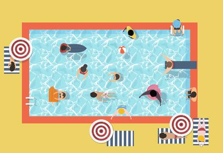 Vector of summer feel design Illustration