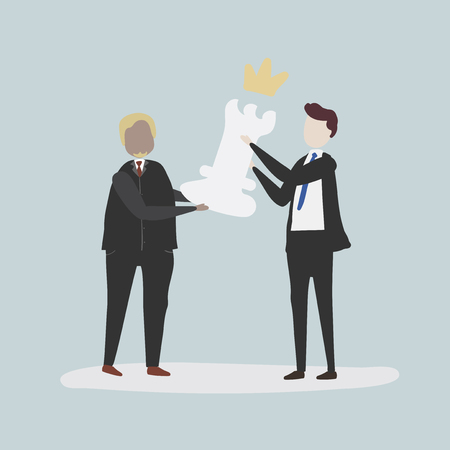 Vector collection of business people Imagens - 86225913