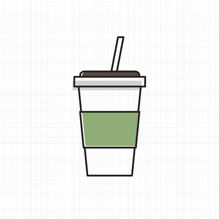 Vector of cold drink cup icon