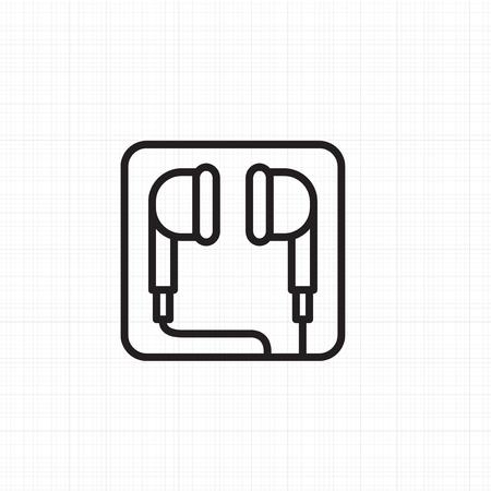 イヤホンのアイコンのベクトル  イラスト・ベクター素材