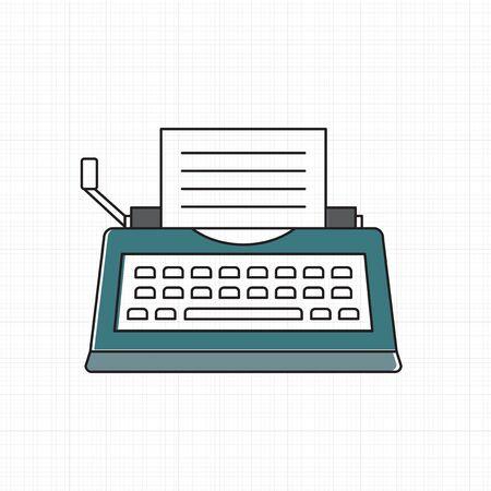 タイプライターのアイコンのベクトル