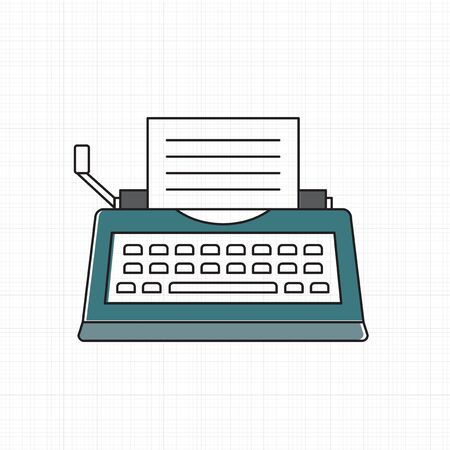 Vector of typewriter icon