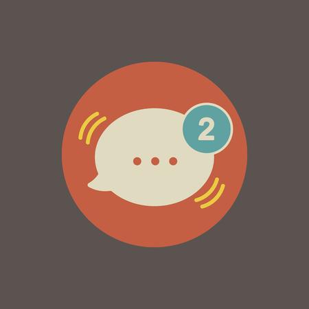 Icono de mensajería Ilustración de vector