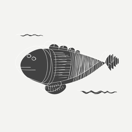 Artistic fish illustration