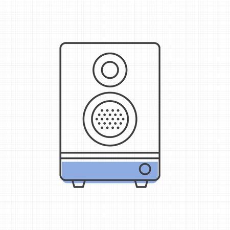 Altavoz icono de la ilustración vectorial estéreo Foto de archivo - 86964231