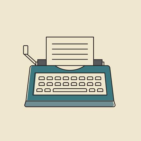 Vector van typemachine pictogram