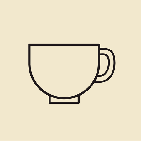 Vector of coffee cup icon