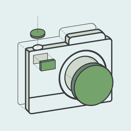 Illustrative camera creative digital graphic Ilustração
