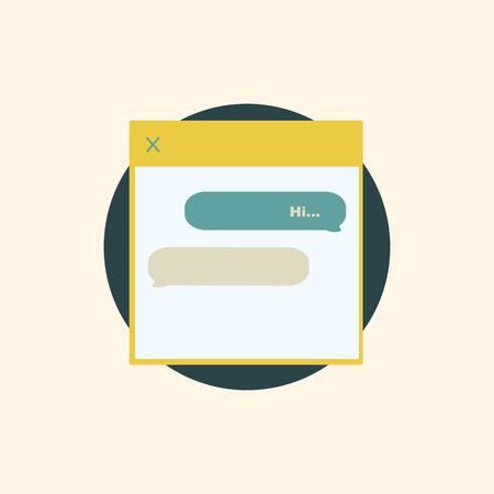 Illustration of conversation box