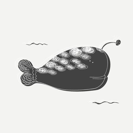 Artistic fish illustration