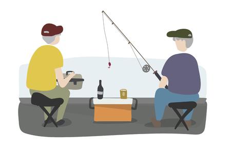 Fishermen vector