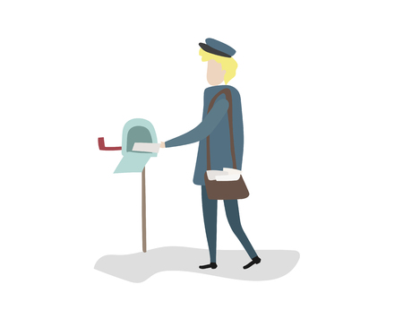 Postman vector Illustration