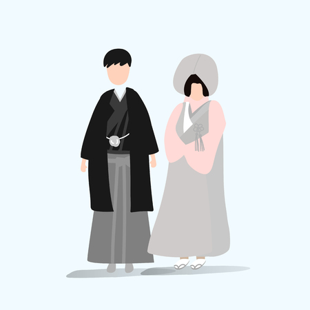 Japanese wedding vector