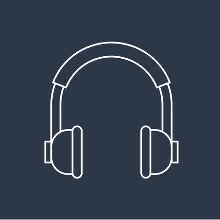 Vector van hoofdtelefoon icoon