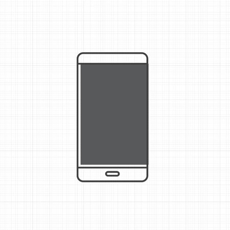 Vector of mobile phone icon Ilustrace