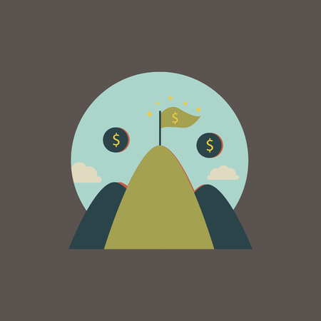 Financial mountain concept
