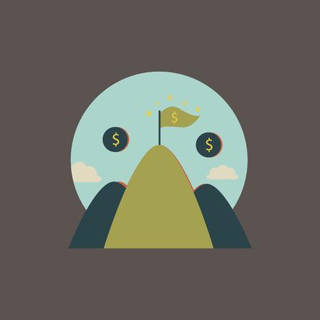 Financial mountain concept