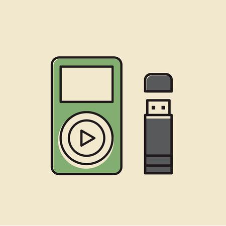 Vecteur de gadgets numériques Banque d'images - 87041704