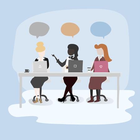 Femmes parlant dans un bureau