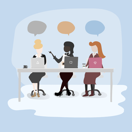 Mujeres hablando en una oficina