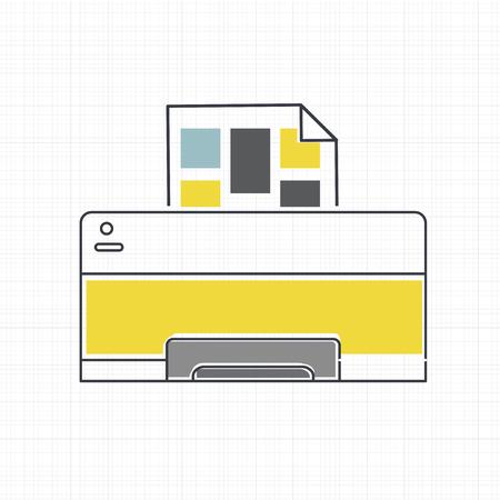 Vector of computer printer icon 向量圖像