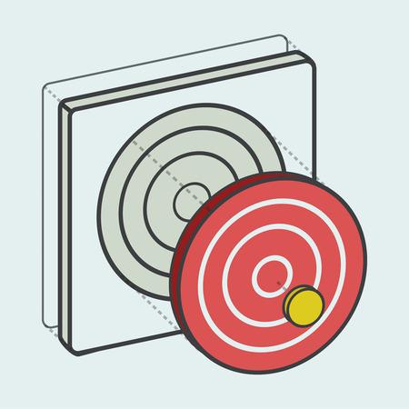 Target dartboard digitale creatieve afbeelding Stock Illustratie