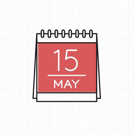 カレンダー型のアイコンのベクトル