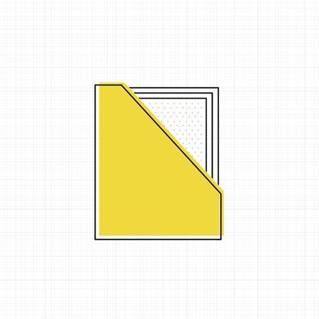 Vector of office supply icon Ilustração
