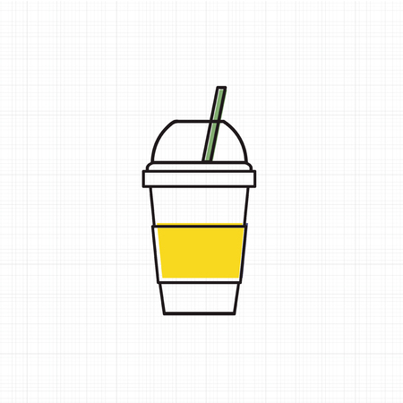Vector of cold drink cup icon Stock fotó - 87041715