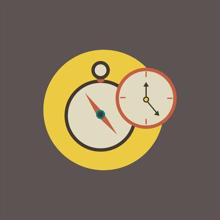 시계 아이콘의 일러스트