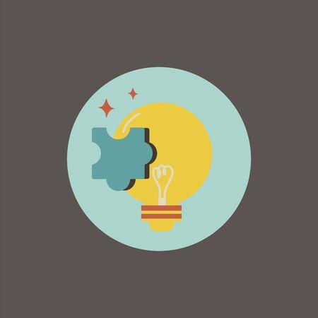 Illustration de l & # 39 ; icône ampoule Banque d'images - 87041724