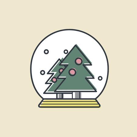 Vector de la bola de nieve de navidad icono Foto de archivo - 87041725