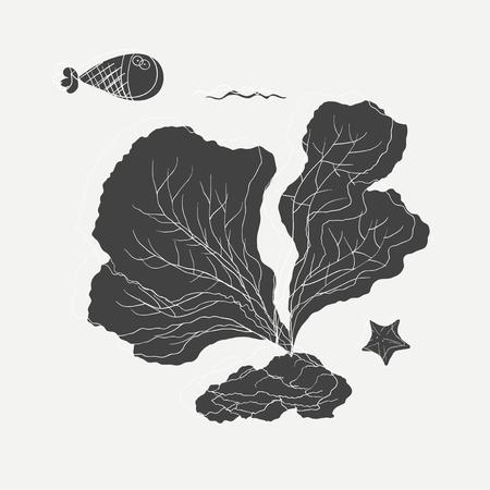 Illustration des Korallendesigns Standard-Bild - 90600228
