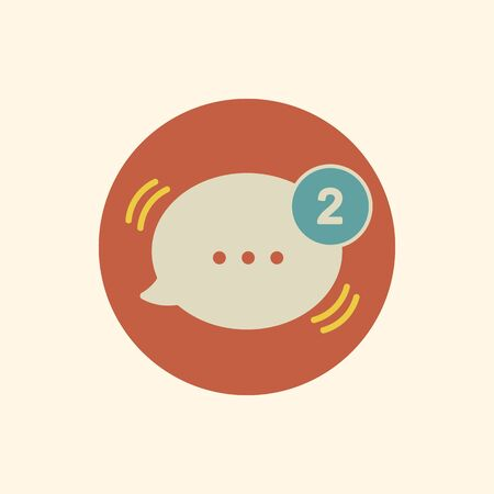Illustration of speech bubbles with alert
