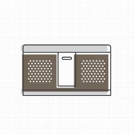 Altavoz icono de la ilustración vectorial estéreo Foto de archivo - 86964270