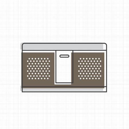 Speaker stereo icon vector illustration