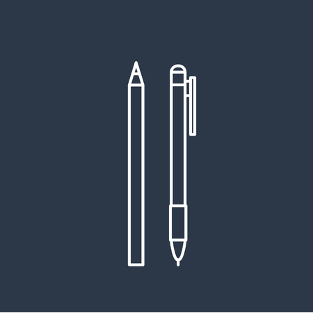 Vector of pen icons Illustration