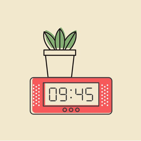 Vector of digital clock icon